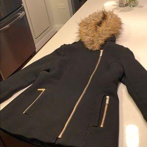 Michael Kors Women's size 4 black wool coat